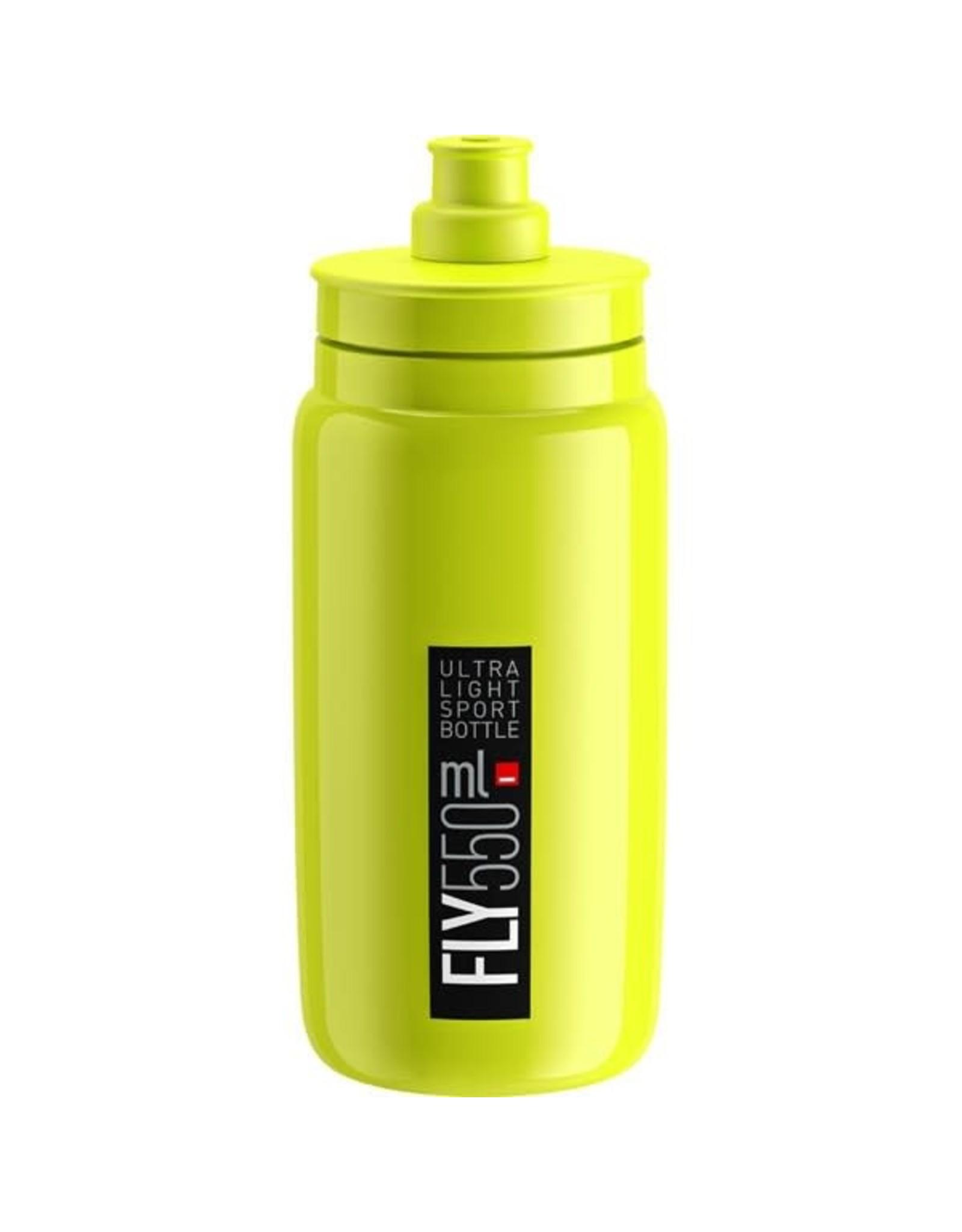 Elite FLY H2O BOTTLE FLUORESCENT YELLOW W/ BLACK LOGO 550ml