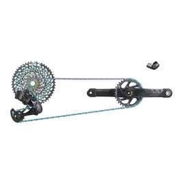 SRAM SRAM XX1 EAGLE AXS UPGRADE KIT (REAR DER WITH BATTERY, TRIGGER SHIFTER WITH CLAMP, CHARGER/CORD): BLACK