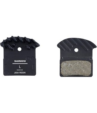 Shimano Spares Shimano J03A disc brake pads and spring, alloy backed with cooling fins, resin
