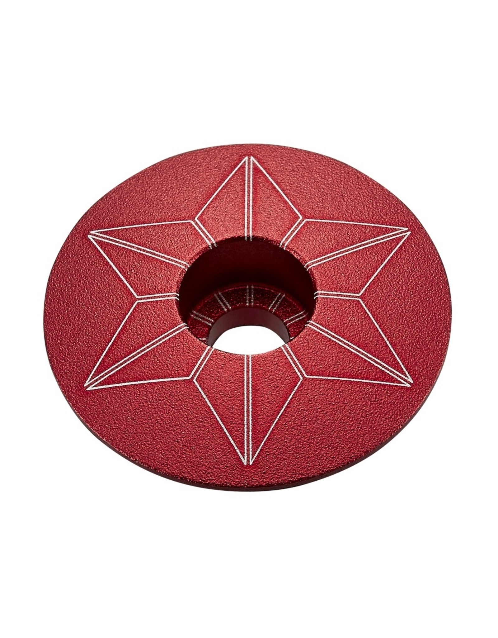 Supacaz Star Cap, Red Anodized