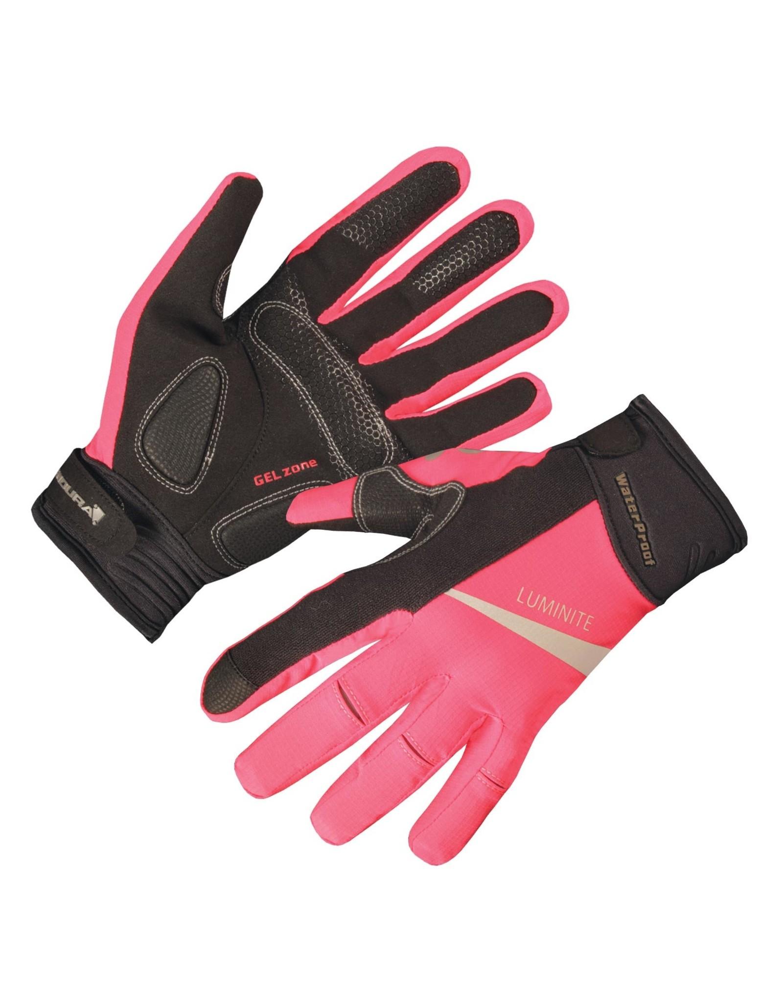 Endura Wms Luminite Glove Hi Vis Pink, S