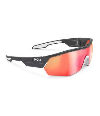 KOO Koo, Open Cube, Anthracite Matt/White Frame, Red Mirror Lenses, Medium