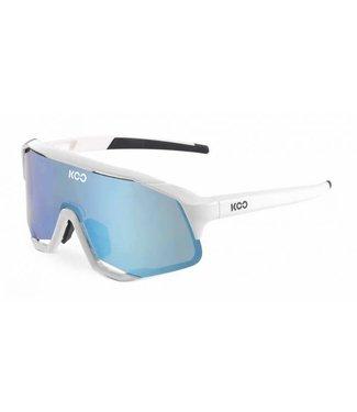 KOO Koo, Demos, White Frame, Turquoise Lense, Uni