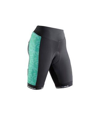 Altura Altura Women's Peloton ProGel Short - Aquamarine and Black - Size 8