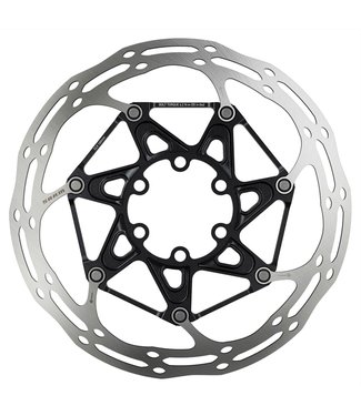 SRAM Sram Rotor Disc Centreline 2 Piece (Includes Steel Rotor Bolts) Rounded - 6 Bolt: Black 180mm