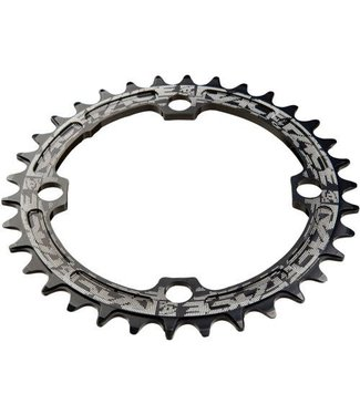 Race Face Race Face, Narrow Wide 104mm BCD, 32T Chainring, 10-12sp, BCD: 104, 7075-T6 Aluminum, Black