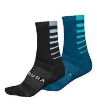 Endura Endura CoolMax® Stripe 2-P Socks Kingfisher: L-XL