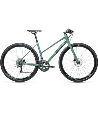 Cube Cube SL Road Pro 2021 -Trapeze  Extra Small (47cm) - Grey Green and Green