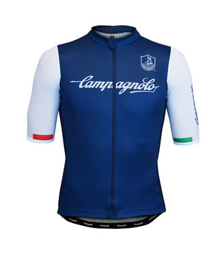 Campagnolo Clothing Iridio Jersey Man Dark Blue/Wht XXL