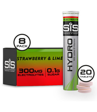 Science In Sport GO Hydro Tablet - 8 tubes - strawberry and lime