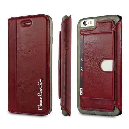 Pierre Cardin Pierre Cardin Booktype voor Apple iPhone 6  - Rood (8719273215074)