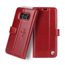 Pierre Cardin Booktype voor Samsung Galaxy S8 Plus  - Rood (8719273133835)