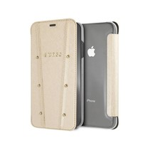 Guess Booktype voor Apple iPhone Xs Max  - Goud (3700740437025)
