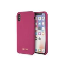 Guess Achterkant voor Apple iPhone X-Xs  -  Roze (3700740432907)