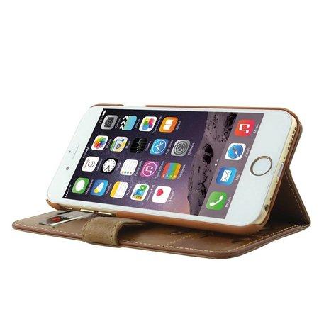 Pierre Cardin Pierre Cardin Booktype voor Apple iPhone 6  - Bruin (8719273215241)