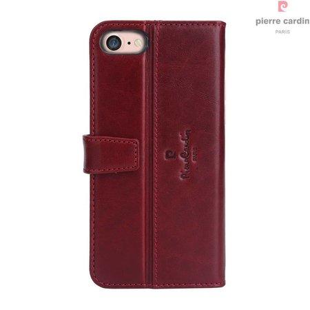Pierre Cardin Pierre Cardin Booktype voor Apple iPhone 7-8  - Rood (8719273229415)