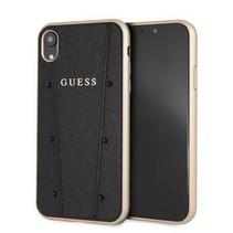 Guess Achterkant voor Apple iPhone XR  -  Zwart (3700740437117)