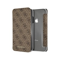 Guess Booktype voor Apple iPhone Xs Max  - Bruin (3700740437230)