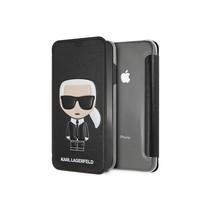 Karl Lagerfeld Booktype voor Apple iPhone Xs Max  - Zwart (3700740439142)