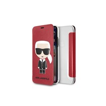 Karl Lagerfeld Booktype voor Apple iPhone X-Xs  - Rood (3700740440131)