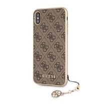 Guess Achterkant voor Apple iPhone Xmax  -  Bruin (3700740437209)