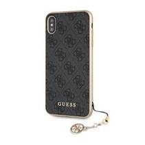 Guess Achterkant voor Apple iPhone Xmax  -  Grijs (3700740437254)