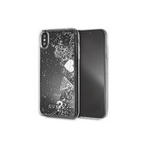 Guess Achterkant voor Apple iPhone Xs Max  -  Zilver (3700740440384)