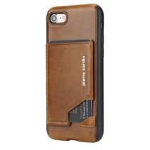 Pierre Cardin Achterkant voor Apple iPhone 7-8Plus  -  Bruin (8719273130278)