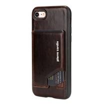 Pierre Cardin Achterkant voor Apple iPhone 7-8Plus  -  D Bruin (8719273130292)