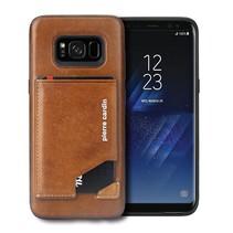Pierre Cardin Achterkant voor Samsung Galaxy S8  -  Bruin (8719273131282)