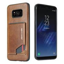Pierre Cardin Achterkant voor Samsung Galaxy S8 Plus  -  Bruin (8719273131329)
