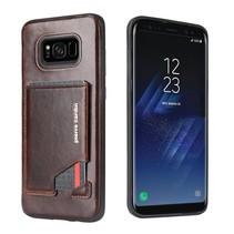 Pierre Cardin Achterkant voor Samsung Galaxy S8 Plus  -  D Bruin (8719273131343)