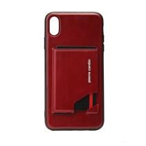 Pierre Cardin Achterkant voor Apple iPhone Xs Max  -  Rood (8719273277942)