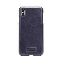 Pierre Cardin Achterkant voor Apple iPhone Xs Max  -  Sapphire Blauw (8719273278017)