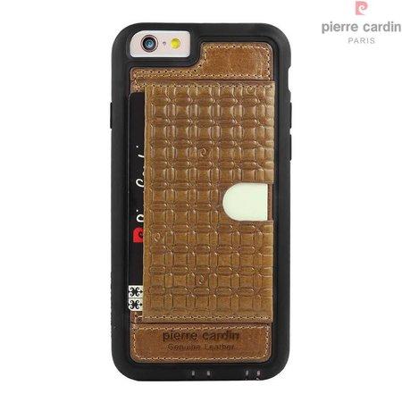 Pierre Cardin Pierre Cardin Achterkant voor Apple iPhone 6  -  Bruin (8719273214527)