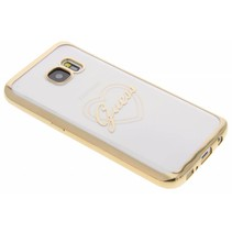 Samsung Galaxy S7 - G930F - Guess Siliconen hoesje - Goud (3700740375976)
