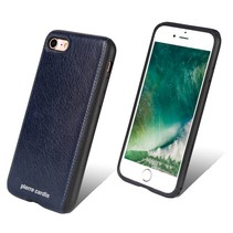 Pierre Cardin Achterkant voor Apple iPhone 7-8 -  Blauw (8719273129470)