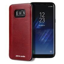 Pierre Cardin Achterkant voor Samsung Galaxy S8 Plus  -  Rood (8719273131152)