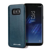 Pierre Cardin Achterkant voor Samsung Galaxy S8 Plus  -  Lake Blue (8719273131169)