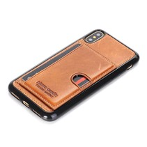 Pierre Cardin Achterkant voor Apple iPhone X-Xs  -  Bruin (8719273140741)