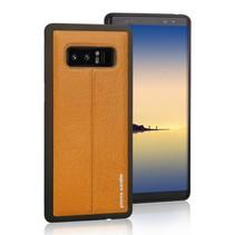 Pierre Cardin Achterkant voor Samsung Galaxy Note 8  -  Geel (8719273140970)