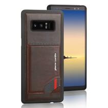Pierre Cardin Achterkant voor Samsung Galaxy Note 8  -  D Bruin (8719273141021)