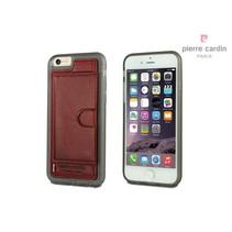Pierre Cardin Achterkant voor Apple iPhone 6  -  Rood (8719273214718)