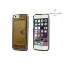 Pierre Cardin Achterkant voor Apple iPhone 6  -  Bruin (8719273214701)