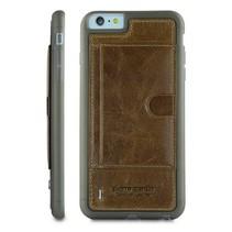 Pierre Cardin Achterkant voor Apple iPhone 6 Plus  -  Bruin (8719273214732)