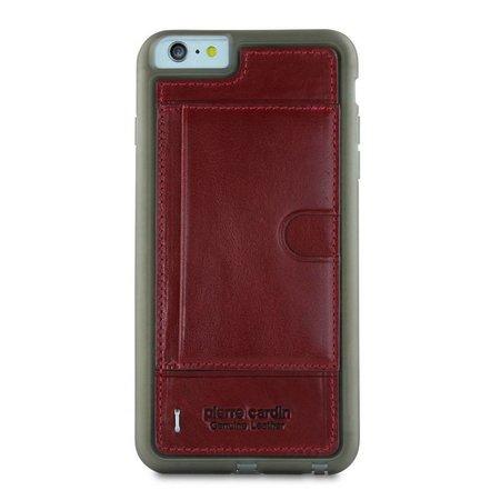 Pierre Cardin Pierre Cardin Achterkant voor Apple iPhone 6 Plus  -  Rood (8719273214749)