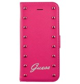 Guess Apple iPhone 5G/SE - iPh 5G/SE - Guess Boekmodel hoesje - Roze
