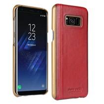 Pierre Cardin Achterkant voor Samsung Galaxy S8 Plus  -  Rood (8719273133668)
