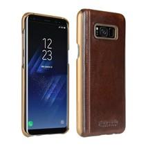 Pierre Cardin Achterkant voor Samsung Galaxy S8 Plus  -  D Bruin (8719273133675)