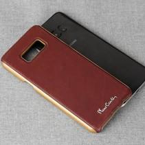 Pierre Cardin Achterkant voor Samsung Galaxy S8 Plus  -  Rood (8719273133767)